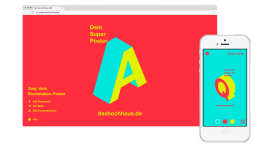 Das Hochhaus Poster Website Desktop and Mobile